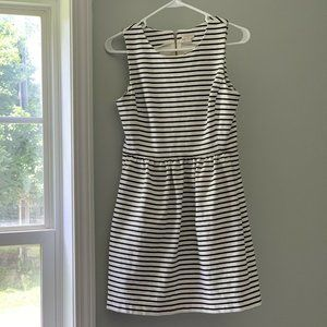 J Crew Factory Fit and Flare Stripe Dress